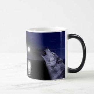 Taza Mágica Lobo de mar - lobo de la luna - Luna Llena - lobo