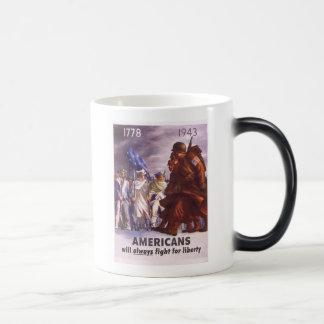 Taza Mágica Los americanos lucharán siempre para la LIBERTAD
