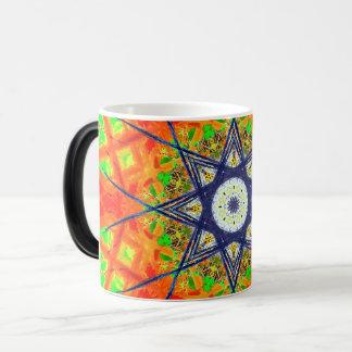 Taza Mágica Mandala colorida de la estrella