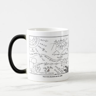 Taza Mágica Mug How physicists see the world [RIGHT HANDED]