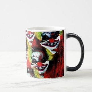 Taza Mágica payaso espeluznante del horror de Halloween