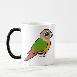 Taza Mágica Piña Conure Verde-cheeked de Birdorable