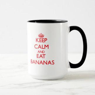 Taza Mantenga tranquilo y coma los plátanos