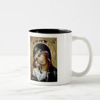 Taza mariana del icono