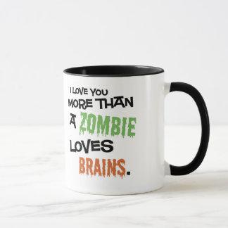 Taza Más que un zombi ama cerebros