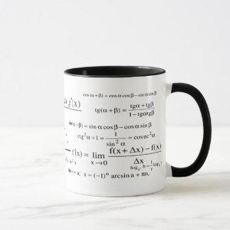 Taza matemática de los números