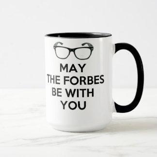 Taza Mayo Forbes sea con usted negro y blanco