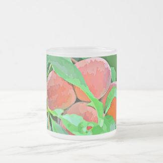 """taza """"melocotones del vidrio esmerilado 10oz en"""