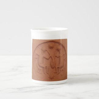 Taza mesopotámica del sello de la cerveza taza de porcelana