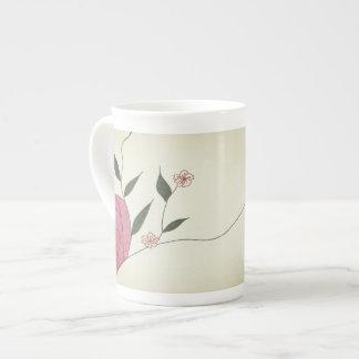 Taza minimalista color de rosa rosada de China de