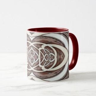 Taza Modelo abstracto de Brown y de la crema