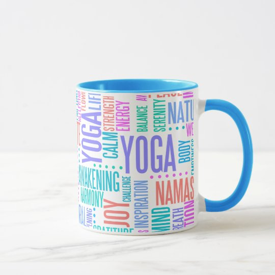 Taza Modelo elegante de la yoga de la nube en colores