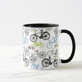 Taza Modelo retro de la bici de la bicicleta