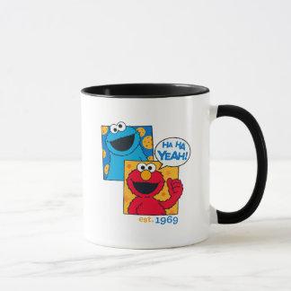 Taza Monstruo y Elmo de la galleta el | ha ha sí