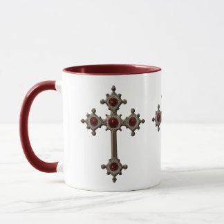 Taza mug embala cruz cristiana