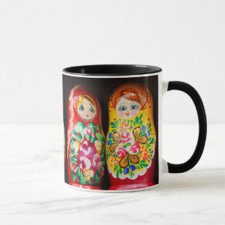 Taza Muñecas coloridas de Matryoshka