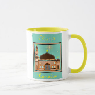 Taza Musulmanes del Ramadán Eid Mubarak islámicos