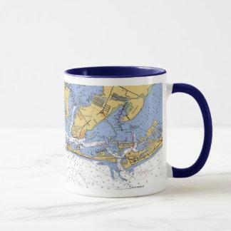 Taza náutica de la carta de la Florida de la isla