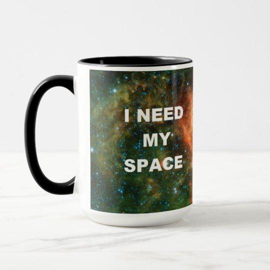Taza Necesito mi espacio - naranja