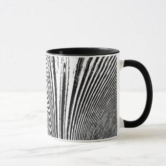 Taza negra abstracta del café con leche