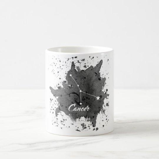 Taza negra del cáncer