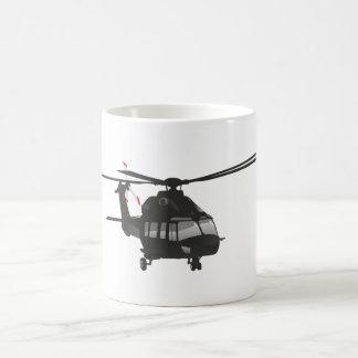 Taza negra del helicóptero
