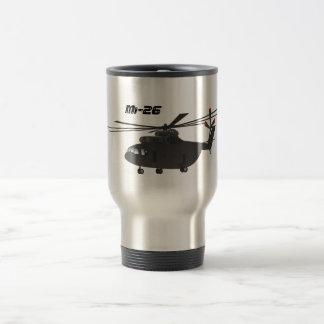 Taza negra del viaje del helicóptero Mi-26