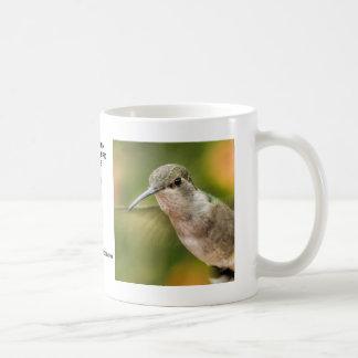 Taza negra femenina del colibrí de Chin