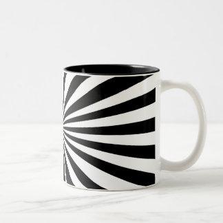 Taza negra y blanca del dos-tono - cebra