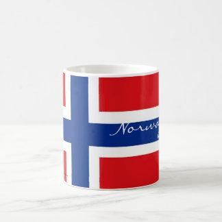 Taza noruega del recuerdo de la bandera de Noruega