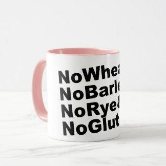 Taza ¡NoWheat&NoBarley&NoRye&NoGluten! (negro)