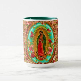 Taza Nuestro Virgen María mexicano del santo de señora