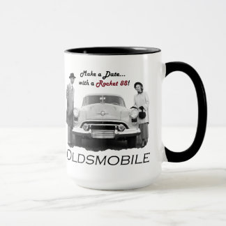 """Taza Oldsmobile """"hace una fecha… con un Rocket 88!"""""""