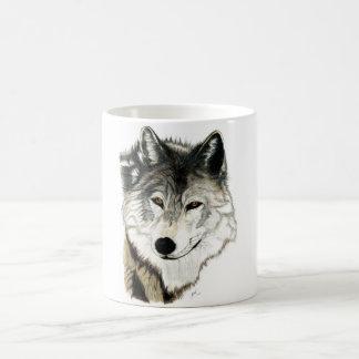 Taza original del arte del lobo