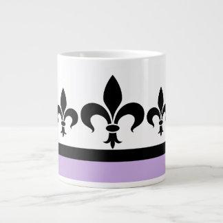 Taza ostentosa del jumbo de la flor de lis de la l taza grande