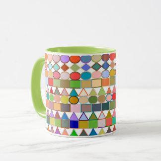 Taza Pasteles geométricos, multi tribales modernos en