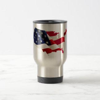 Taza patriótica americana del viaje del acero