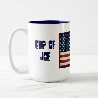 Taza patriótica de taza de la bebida de Joe Taza De Café De Dos Colores