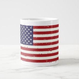 Taza patriótica del jumbo de la bandera