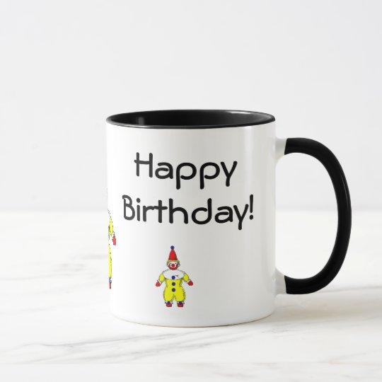 Taza Payaso del feliz cumpleaños