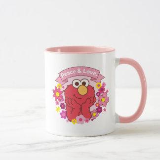 Taza Paz y amor de Elmo el |