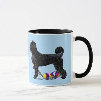 Taza Perro de agua portugués que se coloca con la línea