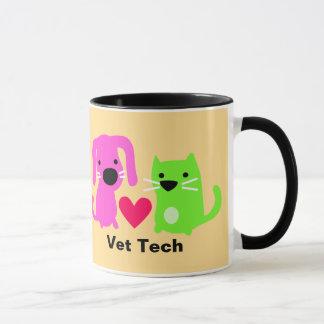 Taza Perro de la tecnología del veterinario y gato y
