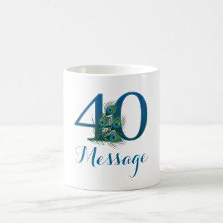 taza personalizada 40.o cumpleaños modificada para