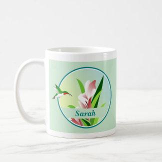 Taza personalizada del colibrí