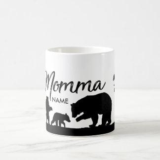 Taza personalizada del oso de Momma