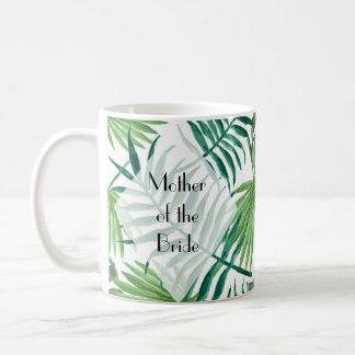 Taza personalizada hojas tropicales de la isla
