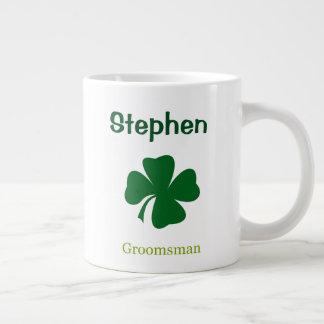 Taza personalizada padrino de boda irlandés del