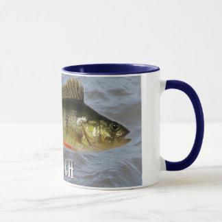 Taza Pescados de agua dulce de la perca, con imagen de