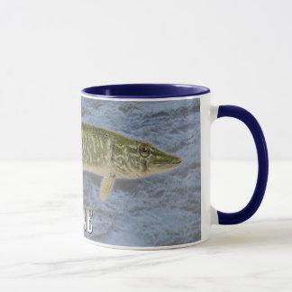 Taza Pescados de agua dulce de Pike, con imagen de